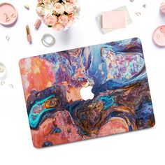 The case consists of two parts. The design is only on the top cover, the bottom cover is transparent. The case is made of hard plastic Marble Macbook Case, Marble Case, Macbook Pro Case, Laptop Cases, Macbook Air 13 Cover, Leaf Flowers, Touch, Bar, Pattern