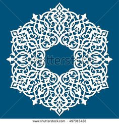 Ornamental lace pattern for wedding invitations and greeting cards in Eastern style. Laser cutting elegant mandala. Ornate element for design and place for text.