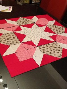 "36"" swoon block ready to piece by Lynne @ Lilys Quilts, via Flickr"