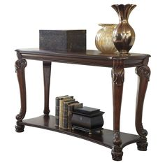 Norcastle Sofa-Console Table - Dark Brown - Signature Design by Ashley