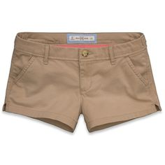 Abercrombie & Fitch Dawn Shorts ($22) ❤ liked on Polyvore featuring shorts, bottoms, pants, short, khaki, vintage shorts, abercrombie & fitch, short khaki shorts, embroidered shorts and khaki shorts