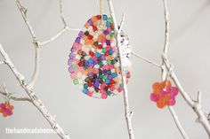 diy how to make a easter tree | Responses to how to make an easter egg tree {diy sun catchers}