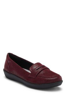 Clarks Ayla Suede Penny Loafer Wide Width Available