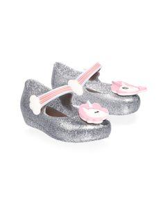 2f28765714e1 Mini Melissa Toddler s   Girl s Ultragirl Unicorn Mary Jane - Pink Glitter  6 (Baby)