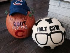 chicago cubs and pumpkin decorating