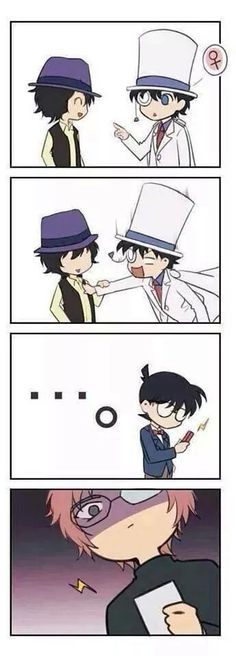 Kaito touches Sera, Conan takes a picture then sends it to Okiya...