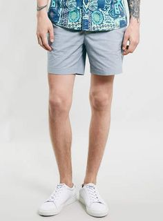 Grey Puppytooth Mid Shorts - $70