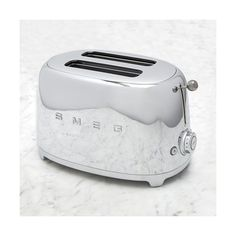 Smeg 2 Slice Toaster ($150) ❤ liked on Polyvore featuring home, kitchen & dining, small appliances, colored toasters, wide slot toaster, smeg, toast rack and two slice toaster