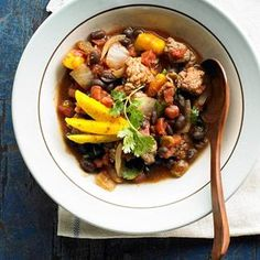 Caribbean Chili with Black Beans From Better Homes and Gardens, ideas and improvement projects for your home and garden plus recipes and entertaining ideas.