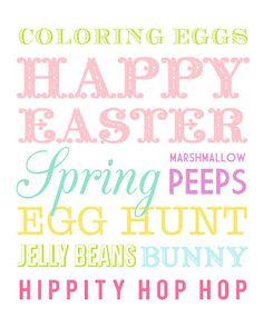 Printable Easter Subway Art