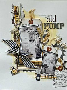 Tutorials designed by Emma Trout: Layout- The Old Pump (Using a stain)
