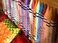 Transform Large Garden Stakes into Giant Crayons... or pencils... what a fun idea!