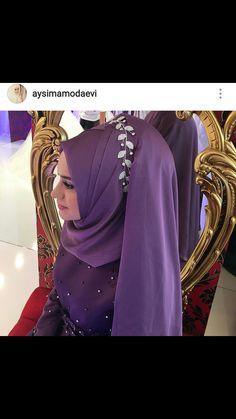 Bridal Hijab, Muslim Wedding Dresses, Hijab Bride, Pashmina Hijab Tutorial, Hijab Style Tutorial, Kebaya Wedding, Wedding Hijab, Beautiful Muslim Women, Beautiful Hijab