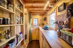 This tiny home's cabin inspired kitchen: | 13 Cozy Kitchens That Will Make You Want To Be A Better Cook