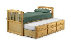 Happy Beds Hornblower Pine 3ft Guest Cabin Bed 2xOrtho Mattress