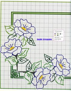 Cross stitch corner pattern uploaded by Celia Ramalho