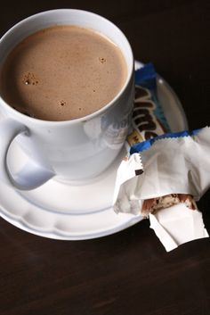Almond Joy Hot Chocolate. This recipe is easy and seems tasty.