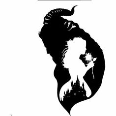 Disney beauty and the beast design for silhouette studio, cut files, clip a Silhouette Projects, Silhouette Design, Disney Silhouette Art, Silhouette Studio, Disney Drawings, Art Drawings, Cricut Creations, Disney Art, Disney Fonts