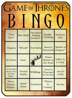 'Game of Thrones' Bingo! - Beyond the Tube - Zimbio