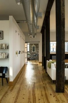 Loft living room/art wall - modern - living room - st louis - by Studio Durham Architects Industrial House, Modern Industrial, Industrial Farmhouse, Industrial Design, Farmhouse Style, Small Living Rooms, Living Room Designs, Modern Living, Living Spaces