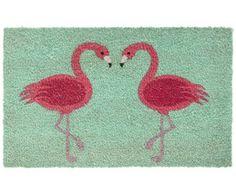 Fußmatte Türmatte 40x60 cm Flamingo Jungle Schmutzfangmatte Fußabtreter Innen