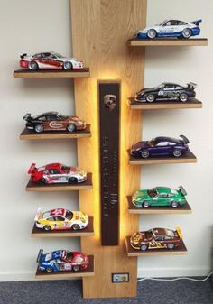 Wall Decorating with Toy Cars, Kids Storage and Organization Ideas - Toys for years old happy toys Hot Wheels Storage, Toy Car Storage, Hot Wheels Display, Kids Storage, Car Furniture, Teak Outdoor Furniture, Home Decor Furniture, Model Auto, Toy Shelves
