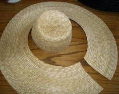 How to turn a modern straw hat into a Natural Form Era daytime hat or bonnet