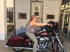 It's a beautiful day to buy a new Harley! Stephanie is taking home this bad-ass 2015 FLHX.   Shop for the bike of your dreams now: http://laconiaharley.com/New-Inventory