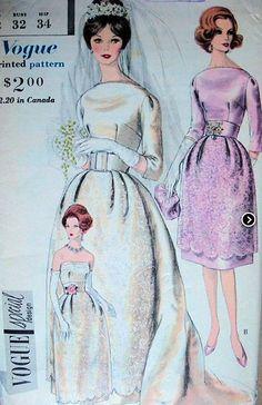 Novia años 50 - cinturas muy marcadas, faldas con volúmen y mangas sencillas