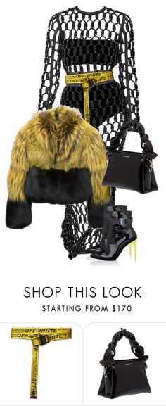 """Black & Yellow"" by stylesbyems ❤ liked on Polyvore featuring Off-White and Miu Miu"