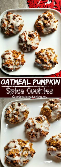 Pumpkin Spice Cookie Recipe, Pumpkin Oatmeal Cookies, Pumpkin Dessert, Pumpkin Recipes, Fall Recipes, Holiday Recipes, Budget Recipes, Oatmeal Recipes, Christmas Recipes
