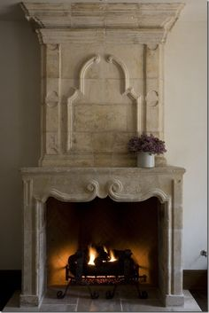 Décor de Provence: Chateau Domingue - my dream fireplace!