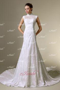 Blog for Dress Shopping: 2014 New Trend:High Neck Wedding Dresses