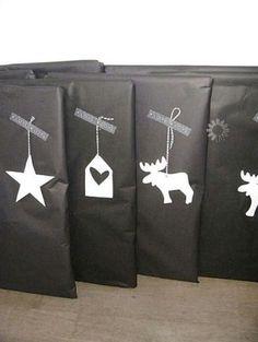 OYO... или мамские будни дизайнера: Чёрно-белая упаковка подарков