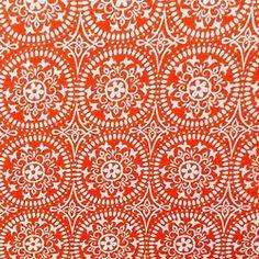 orange shapes pattern