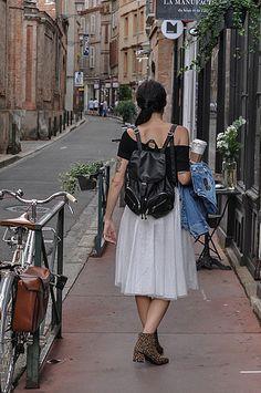 Fashion ,blogger, fashionblogger, mode, outfit, look, streetlook, tutu, shoes, leopard, velo, bici, bike, vintage, sac a dos, bag, hair, street, tutu, dance