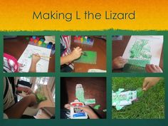 Amazing Action Alphabet uses bubble wrap for L the Lizard.  GREAT Activity book with ideas for preschool and teaching kids at home.  #amazingactionalphabet #lday #seeheardocompany