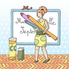 Mademoiselle Septembre aux couleurs pastel
