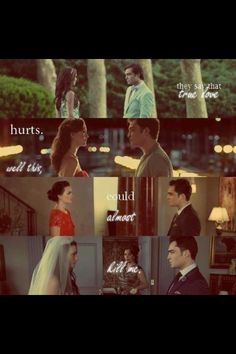 Chuck and Blair- I love chuck and Blair so much! True love always catches up with u, no matter how much time or mistakes have passed!