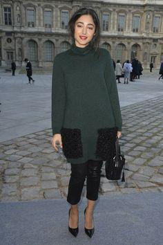 Golshifteh Farahani arrives at the Louis Vuitton show as part of the Paris Fashion Week Womenswear FallWinter 2014-2015 on March 5, 2014 in Paris, France