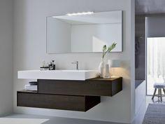Mueble bajo lavabo con cajones con espejo COMP N02 Colección Nyù by IdeaGroup