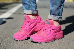 Nike Air Huarache Volt Hot Punch Hot Pink Force On Feet TopDeals