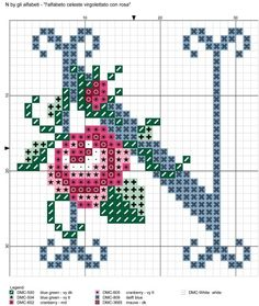 I alfabeto celeste virgolettato con rosa ile ilgili görsel sonucu Cross Stitch Letters, Cross Stitch Boards, Crewel Embroidery, Cross Stitch Embroidery, Handmade Crafts, Diy And Crafts, Le Point, Cross Stitching, Stitch Patterns
