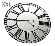 Horloge verre et métal, noir - Ø60
