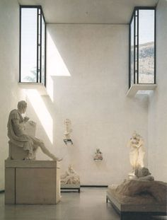 directed light through windows: Museo Canova by carlos scarpa