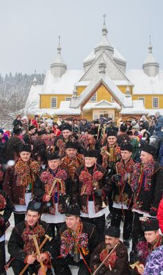 Kolyada in Verhovyna, Ivano-Frankivs'k, W Ukraine.