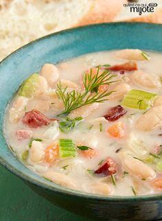 Soupe aux gros morceaux de légumes et aux haricots blancs #recettes