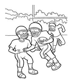 Kids Play Football Together Coloring Page For