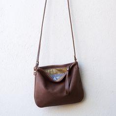 85edc5da5aa6d sale Crossbody Case in lightweight soft brown nubuck leather Leather  Crossbody Bag