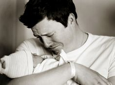 first time a dad holds his daughter. obsessed with this family (Jenna and Matt Walker Photography)
